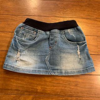 ニシマツヤ(西松屋)の西松屋 デニムスカート 80cm・フリルパンツ F set(スカート)