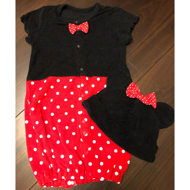 Disney(ディズニー)のミニー ロンパース 60 キッズ/ベビー/マタニティのベビー服(~85cm)(ロンパース)の商品写真
