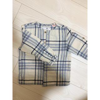 ザラキッズ(ZARA KIDS)のZARA ザラ 長袖 七分袖 チェックシャツ(シャツ/カットソー)