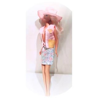 バービー(Barbie)の*Barbie*アウトフィット*着せ替え洋服*ハット&ベスト&スカート3点セット(ぬいぐるみ/人形)
