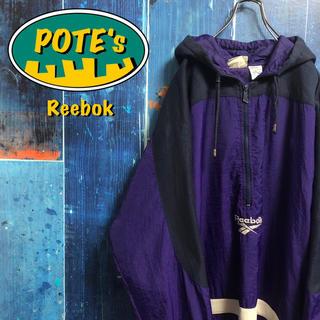 Reebok - 【リーボック】ベクター刺繍ロゴハーフジップナイロンアノラック 90s
