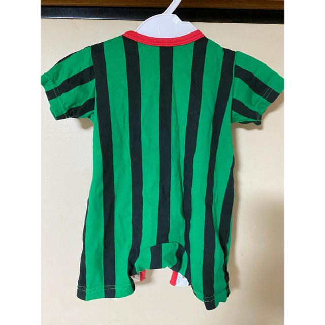 西松屋(ニシマツヤ)のロンパース すいか キッズ/ベビー/マタニティのベビー服(~85cm)(ロンパース)の商品写真