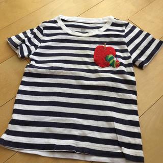 Design Tshirts Store graniph - グラニフ ボーダーTシャツ 90 はらぺこあおむし