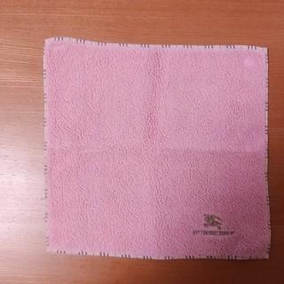 バーバリー(BURBERRY)のバーバリーハンドタオル(ピンク)(タオル/バス用品)