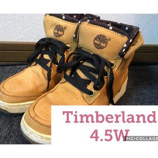 ティンバーランド(Timberland)のTimberland ハイカットブーツ スニーカー イエロー 23.5 4.5W(スニーカー)