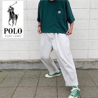 ポロラルフローレン(POLO RALPH LAUREN)のラルフローレン ワイドチノパン オフホワイト(チノパン)