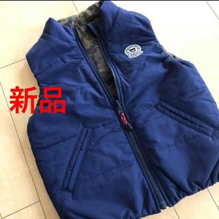 DOUBLE.B - 新品 ダブルビー 迷彩リバーシブル ベスト 110