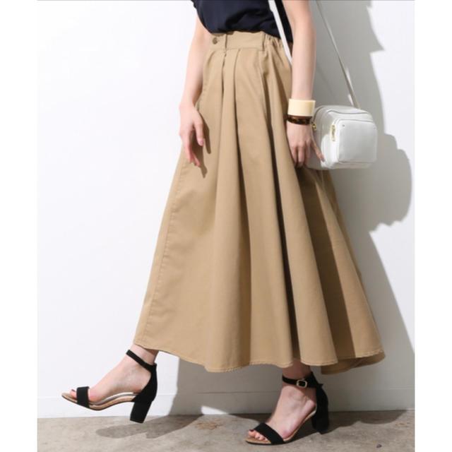 ViS(ヴィス)のViS チノボリュームスカート レディースのスカート(ロングスカート)の商品写真