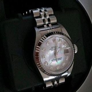 ロレックス(ROLEX)の腕時計 ROLEX ロレックス デイトジャスト 10ポイントダイヤ ピンクシェル(腕時計)
