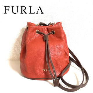 Furla - 【個性派★美品】FURLA フルラ ミニ 巾着 バッグ ショルダーバッグ