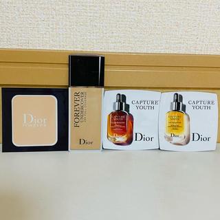 ディオール(Dior)のDior 試供品 ファンデーション2つ 美容液2つ(その他)