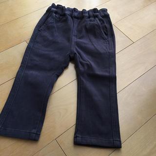 ムジルシリョウヒン(MUJI (無印良品))の無印柔らかい生地のデニム風パンツ  80サイズ ブラック★(パンツ)