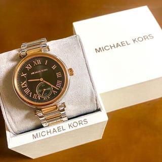 マイケルコース(Michael Kors)の【大特価‼︎】マイケルコース 英字腕時計 ブラック ハロウィン プレゼント🎀(腕時計)