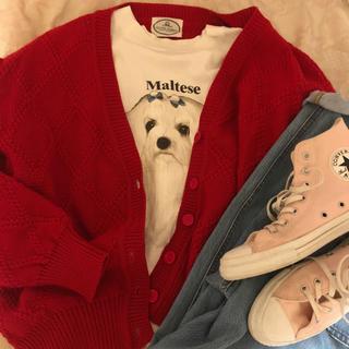 ロキエ(Lochie)のUS vintage red check cardigan(カーディガン)