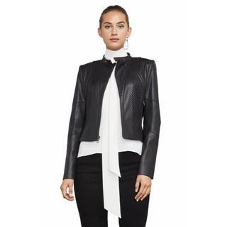 ビーシービージーマックスアズリア(BCBGMAXAZRIA)の❤️BCBG 2020新作 新品 黒レザージャケット 綺麗(レザージャケット)