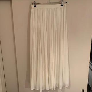 イエナスローブ(IENA SLOBE)のSLOBE IENA 白ロングスカート(ロングスカート)