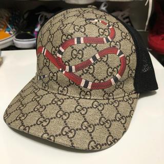 Gucci - GUCCI 帽子 キャップ パイソン 蛇柄