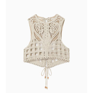 mame - Cording Embroidery Vest