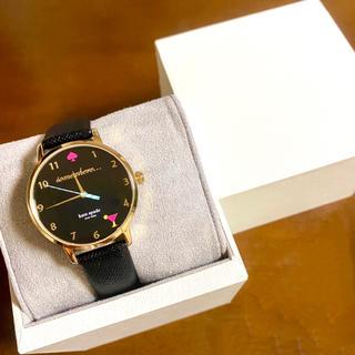 kate spade new york - 【美品!!】ケイトスペード カクテル 腕時計 ブラック ポップ調 ハロウィン🎀