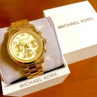 マイケルコース(Michael Kors)の【大特価!!】マイケルコース クロノグラフ腕時計 ゴールド 秋 ハロウィン🎀(腕時計)