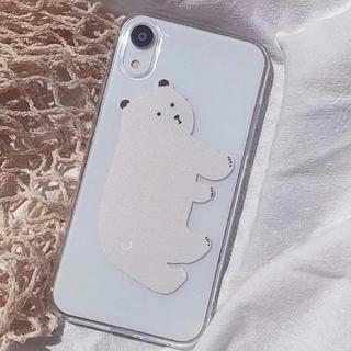 ディーホリック(dholic)のホワイトベアーiPhoneケース(iPhoneケース)