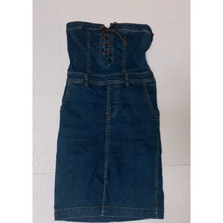 ローズバッド(ROSE BUD)のROSE BUD デニムジャンパースカート (ひざ丈スカート)