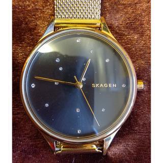 スカーゲン(SKAGEN)の美品SKAGEN スカーゲン SKW2385 ゴールドメッシュ 腕時計34㎜(腕時計)