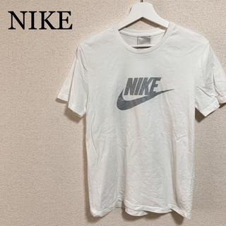 ナイキ(NIKE)のNIKE ロゴTシャツ メンズM 白 デカロゴ ビッグロゴ(Tシャツ/カットソー(半袖/袖なし))