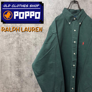 Ralph Lauren - ラルフローレン☆ワンポイント刺繍ロゴチノボタンダウンシャツ 90s