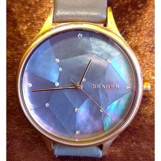 スカーゲン(SKAGEN)の美品SKAGEN スカーゲン SKW2390 星空グレーレーザー 腕時計34㎜(腕時計)