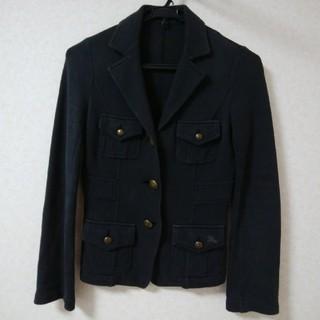 バーバリーブルーレーベル(BURBERRY BLUE LABEL)のバーバリーブルーレーベル 綿黒ジャケットサイズ38(テーラードジャケット)
