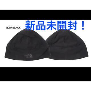 ザノースフェイス(THE NORTH FACE)の【新品未開封!】ノースフェイス ビーニーキャップ帽 ブラック L/XLサイズ(ニット帽/ビーニー)
