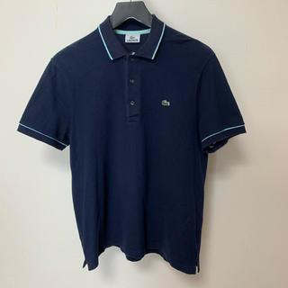 ラコステ(LACOSTE)のラコステ 半袖 ポロシャツ サイズ5 Mサイズ相当 ネイビー 男女兼用 正規品(ポロシャツ)