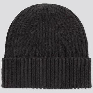 ユニクロ(UNIQLO)のUNIQLO リブビーニー ニットキャップ ブラック ユニクロ(ニット帽/ビーニー)