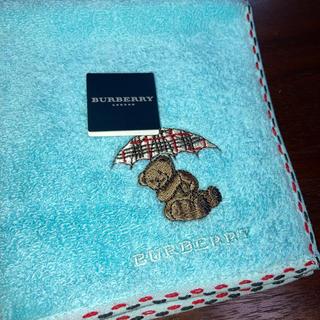 BURBERRY - バーバリー タオルハンカチ ベア くま 刺繍 新品 未使用