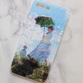 【新品】iPhoneケース iPhone8 plus 日傘をさす女 モネ 絵画