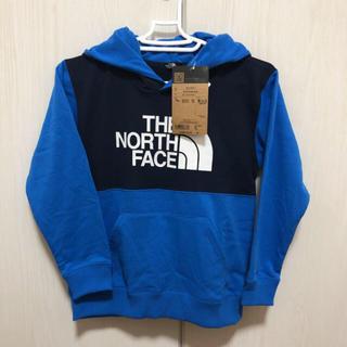 ザノースフェイス(THE NORTH FACE)のノースフェイス ブロックドスウェットフーディー 130cm ブルー(Tシャツ/カットソー)