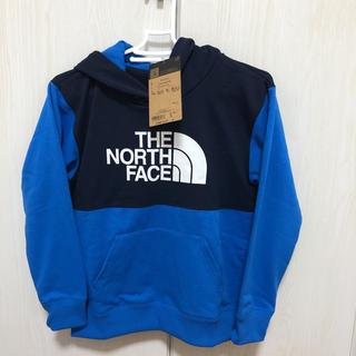 ザノースフェイス(THE NORTH FACE)のノースフェイス ブロックドスウェットフーディー 140cm ブルー(Tシャツ/カットソー)