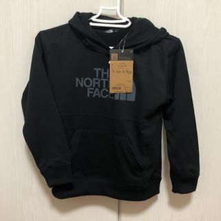 ザノースフェイス(THE NORTH FACE)のノースフェイス ブロックドスウェットフーディ 130cm  ブラック(Tシャツ/カットソー)