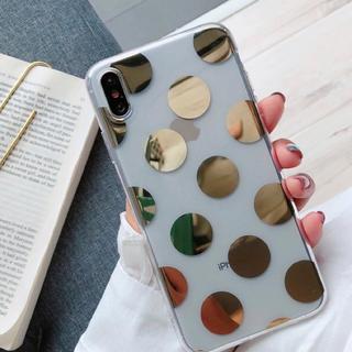 ディーホリック(dholic)のゴールドドットiPhoneケース(iPhoneケース)