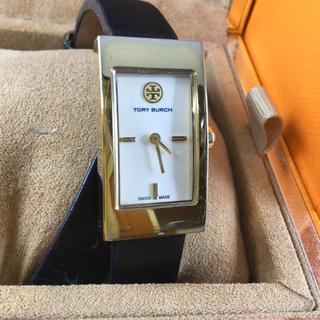 Tory Burch - トリーバーチ ブラックダブルラップレザー 時計