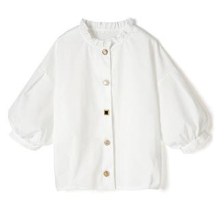 アメリヴィンテージ(Ameri VINTAGE)のセール!ブローチボタン シャツ 色々ボタン アンティーク ヴィンテージ おしゃれ(シャツ/ブラウス(半袖/袖なし))