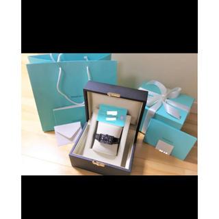 ティファニー(Tiffany & Co.)の【新品未使用】定価10万off TIFFANY イーストウエスト ブラック(腕時計)