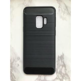 ギャラクシー(Galaxy)のGalaxyS9Plusカーボン調 耐衝撃 TPUケース ブラック 黒(Androidケース)