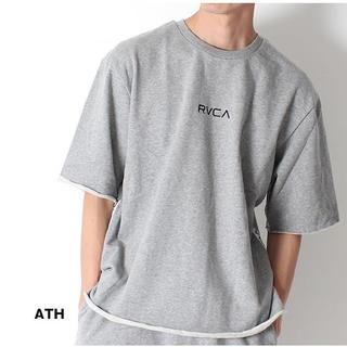 ルーカ(RVCA)のルーカ チビロゴ スウェット T グレー(Tシャツ/カットソー(半袖/袖なし))