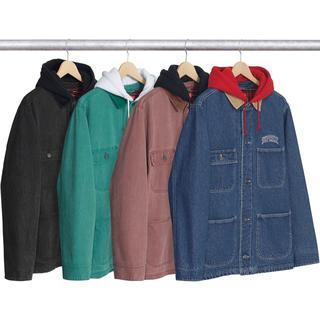 Supreme - 17FW Supreme Hooded Chore Coat