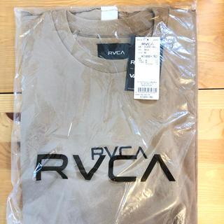 ルーカ(RVCA)のルーカ チビロゴ スウェット T ベージュ(Tシャツ/カットソー(半袖/袖なし))