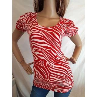アナップラティーナ(ANAP Latina)のANAP LATINA ゼブラ パフスリーブ 半袖(Tシャツ(半袖/袖なし))