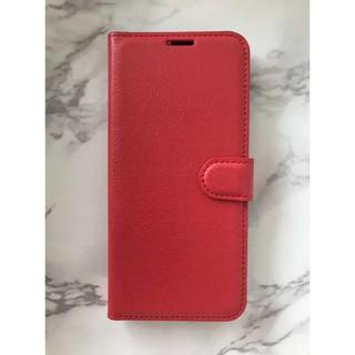 ギャラクシー(Galaxy)の人気商品!シンプルレザー手帳型ケース GalaxyS9 レッド 赤(Androidケース)