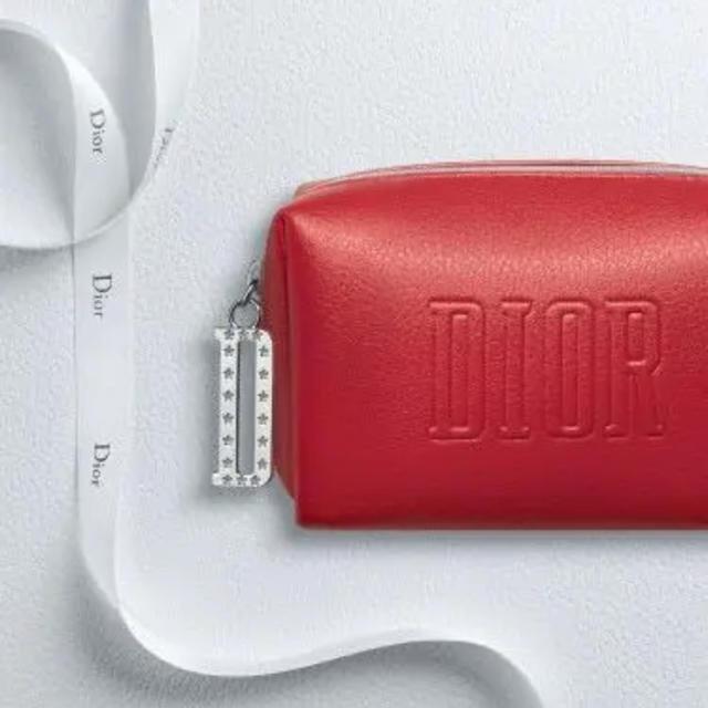 Christian Dior(クリスチャンディオール)のDior * ノベルティ * ポーチ(赤) レディースのファッション小物(ポーチ)の商品写真